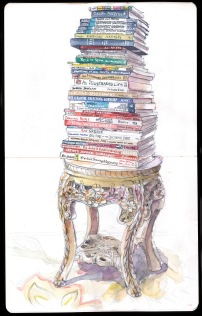 Image result for tower of books